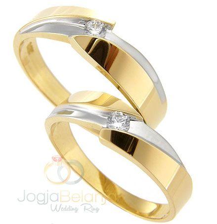 Cincin Kawin Parla Perak Lapis Emas Kuning dan Putih | Cincin Tunangan Jogja