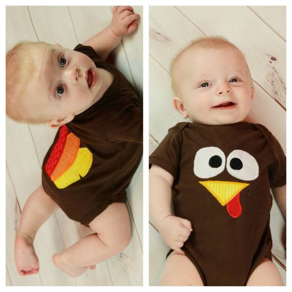 Thanksgiving Turkey and Feather Butt bodysuit first Thanksgiving baby clothing Bodysuit on Etsy, $28.00