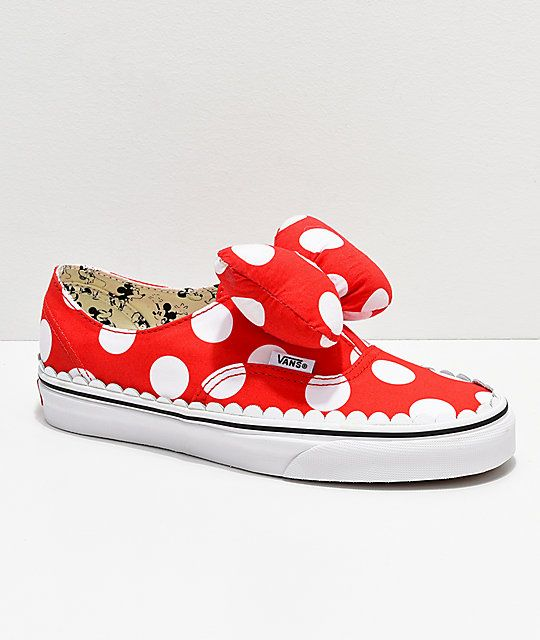 9bb78944076916 Disney by Vans Authentic Minnie s Bow Slip-On Skate Shoes in 2019 ...