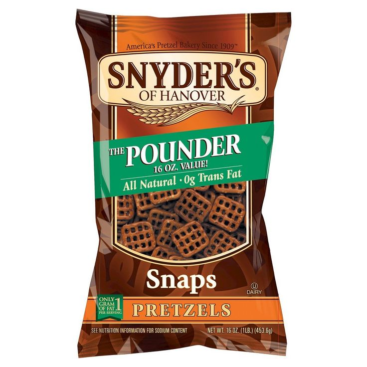 Snyder's of Hanover 100 Calorie Pretzels Snaps - 10 Packs