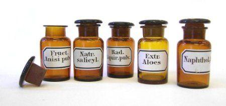 Apothekengläser Laborgläser 5er Set 50 ml mit eingebrannten Etiketten, sortierte Mischung: Amazon.de: Küche & Haushalt
