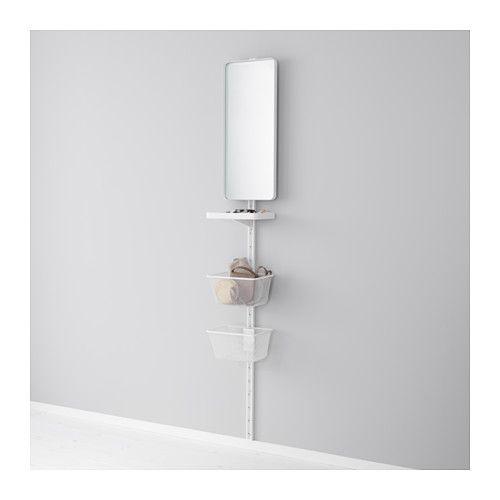 ALGOT Vægstolpe/spejl/kurv - IKEA