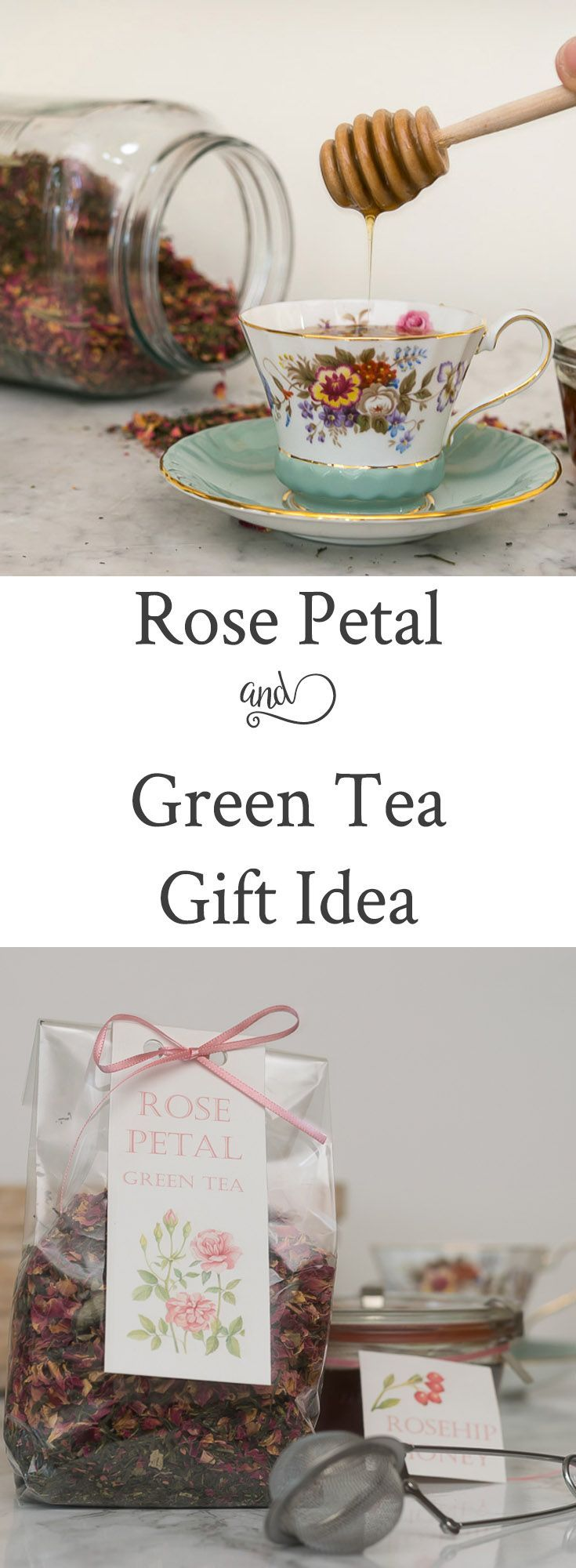 Rose Petals and Green Tea Gift