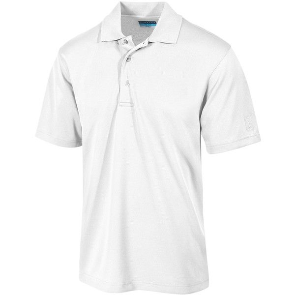 Pga Tour Men's Airflux Solid Golf Polo Shirt ($50) ❤ liked on Polyvore featuring men's fashion, men's clothing, men's shirts, men's polos, bright white, mens polo shirts, mens golf polo shirts and mens golf shirts