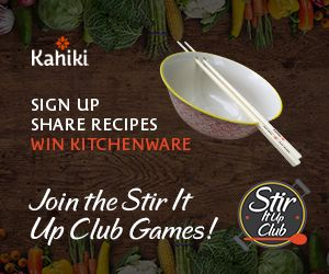 The #Kahiki Stir It Up Club Games October Fan Program Promotion includes a buy one, get one free coupon valid for a Bowl & Roll, Yum Yum Stix, or an Egg Roll box awarded to all new registrants. There's also a chance to win FREE prizes.