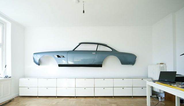 This for our future garage..except the body of a Mustang....or better yet, a Ford GT!