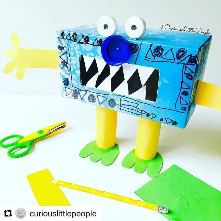 What a gorgeous recycled monster idea from @curiouslittlepeople  #Repost  The…