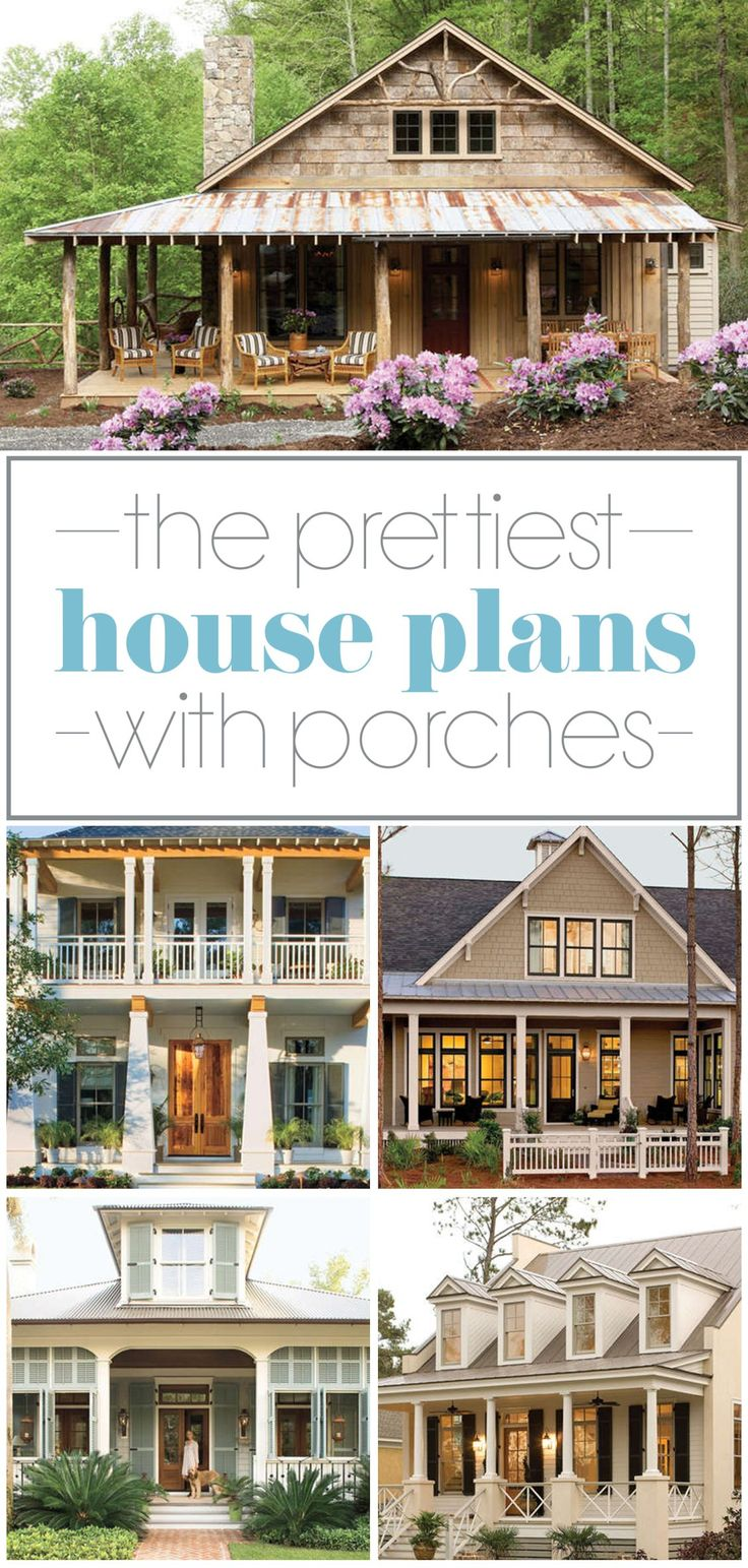 17 Pretty House Plans with Porches 569