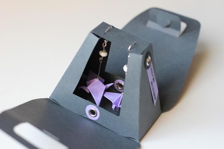 Little origami earrings