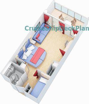 Harmony of the Seas Family Balcony cabin floor plan