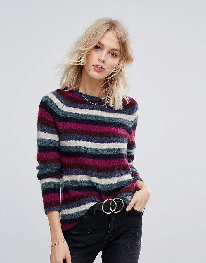 c15642c2ab5 Esprit Multi COLORED Stripe Sweater. Soft wool-mix knit