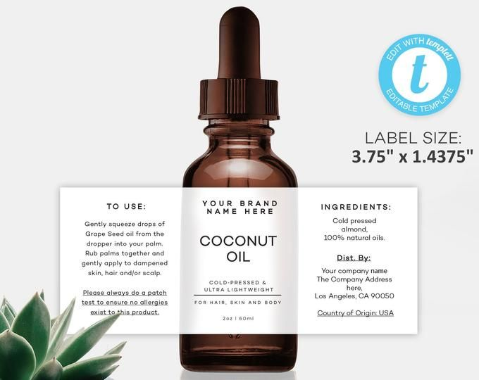 Cosmetic Label Design Customizable Product Label Editable
