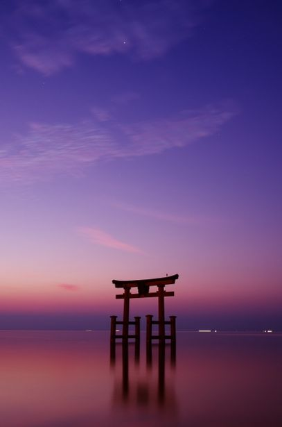 °jpn°  Dawn at Shirahige Shrine, Lake Biwa, Takashima, Shiga  (TF)