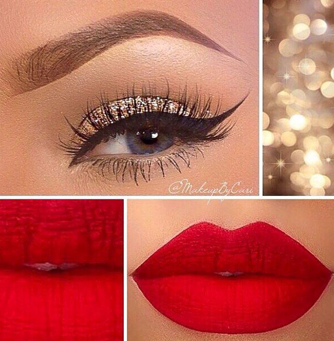 ... Dourada no Pinterest | Maquiagem dourada, Maquiagem e Maquiagem
