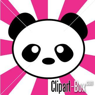 simple panda clipart - photo #11