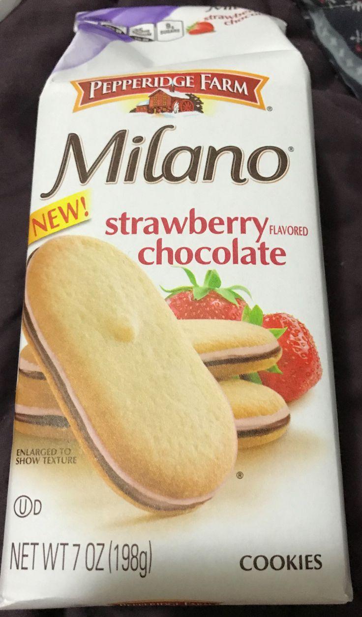 Pepperidge Farm Milano strawberry chocolate cookies