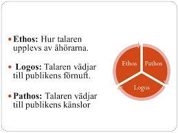 Gudrun Schyman använder sig utav ethos, logos och pathos.