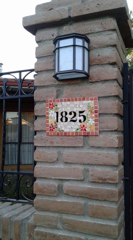 Números en mosaico
