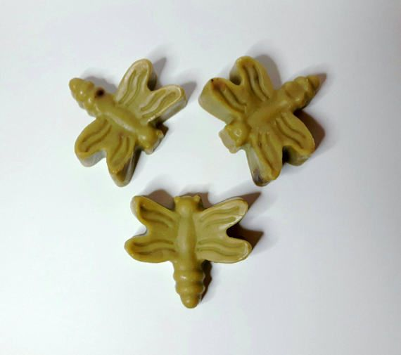 Check out this item in my Etsy shop https://www.etsy.com/ca/listing/521422477/natural-handmade-soap-green-dragonfly