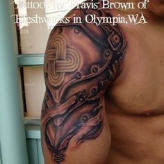gladiator shoulder armor tattoo - Google Search