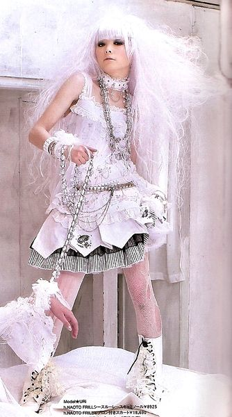 White Hair, Almost Shiropunk Lolita  Fashion Punk -7164