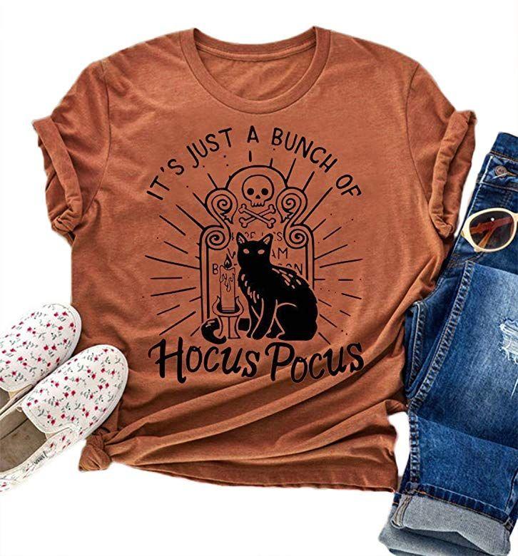 Hocus Pocus Shirt Womens Sanderson Sisters Shirts Halloween Costumes for Women