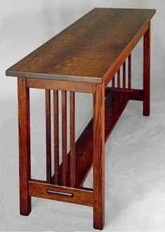 Mission Sofa Table Craftsman Style Furniture Craftsman