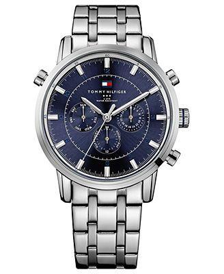 Tommy Hilfiger Watch, Men's Stainless Steel Bracelet 44mm 1790876