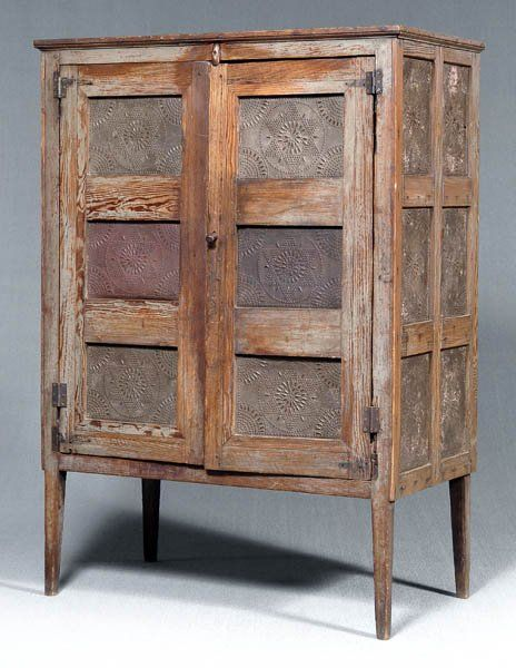 Elegant 149: Southern Painted Pie Safe, : Lot 149. Primitive FurniturePrimitive  AntiquesPrimitive CountryPrimitive ...