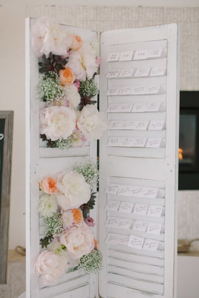DIY seating chart: http://www.stylemepretty.com/2013/10/16/newport-wedding-from-ruth-eileen-photography/ | Photography: Ruth Eileen - http://rutheileenphotography.com/