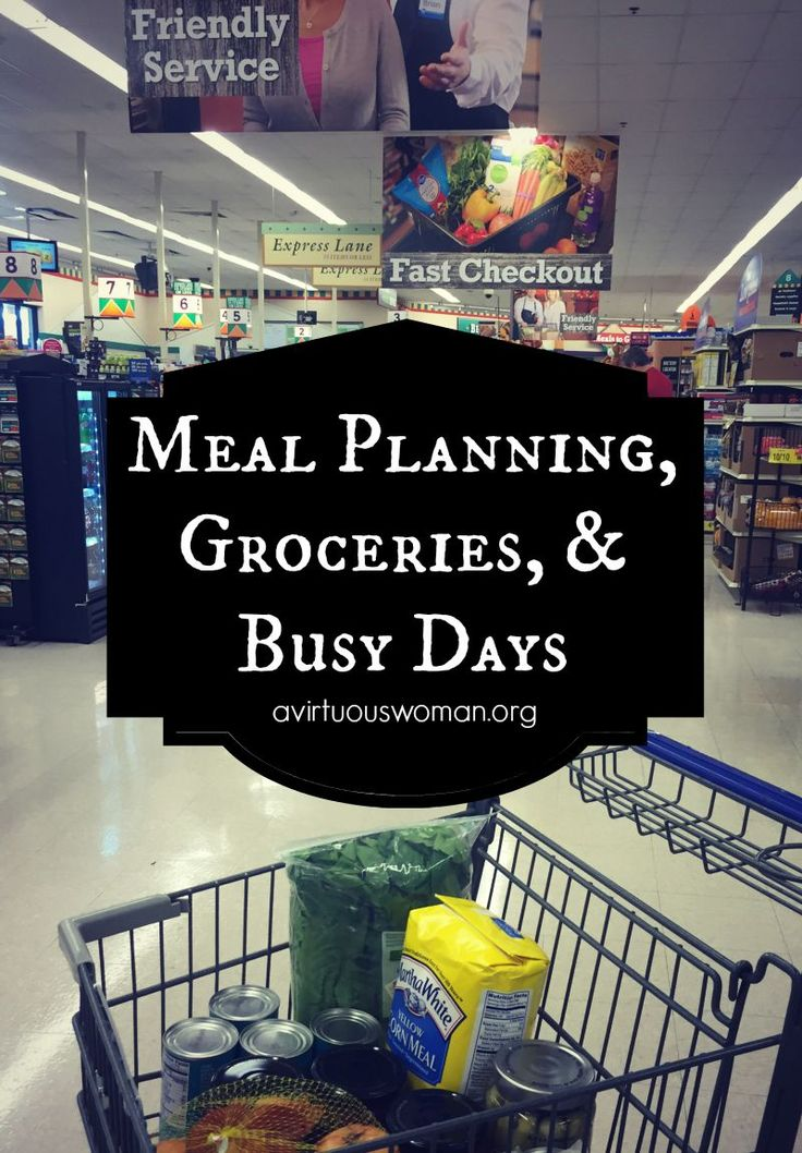 3 Tips for Meal Planning plus 5 Tips for Making Grocery Shopping Easier! @ AVirtuousWoman.org #ad