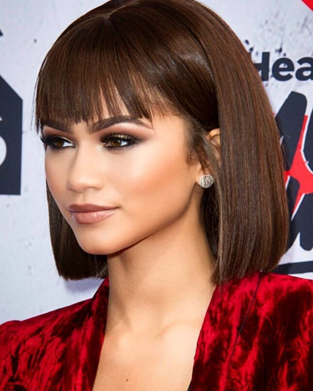 Zendaya's blunt bang'd bob is everything to us.
