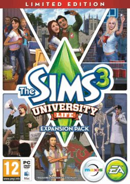 The Sims 3: University Life Limited Edition PC Games Cover Art. I'm kinda thinking about getting this