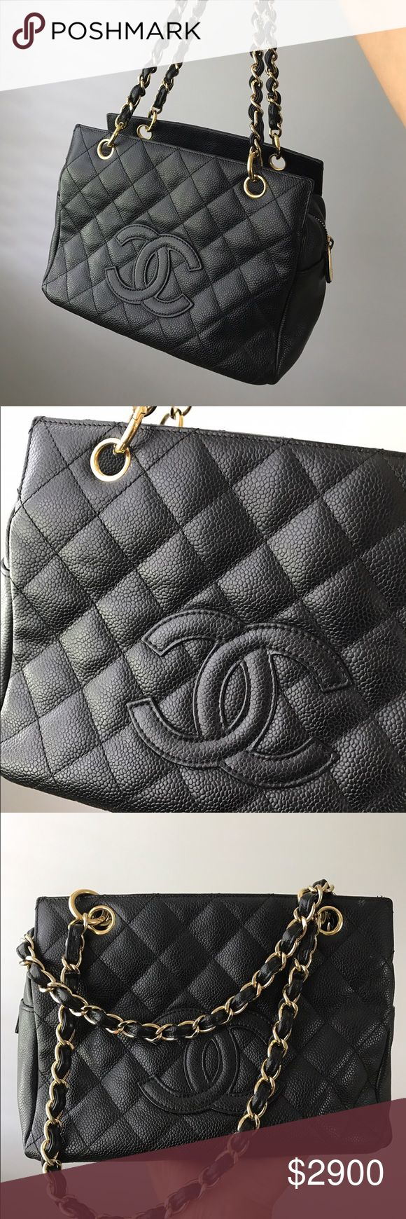 Authentic channel purse caviar black Black Chanel caviar purse CHANEL Bags Mini Bags