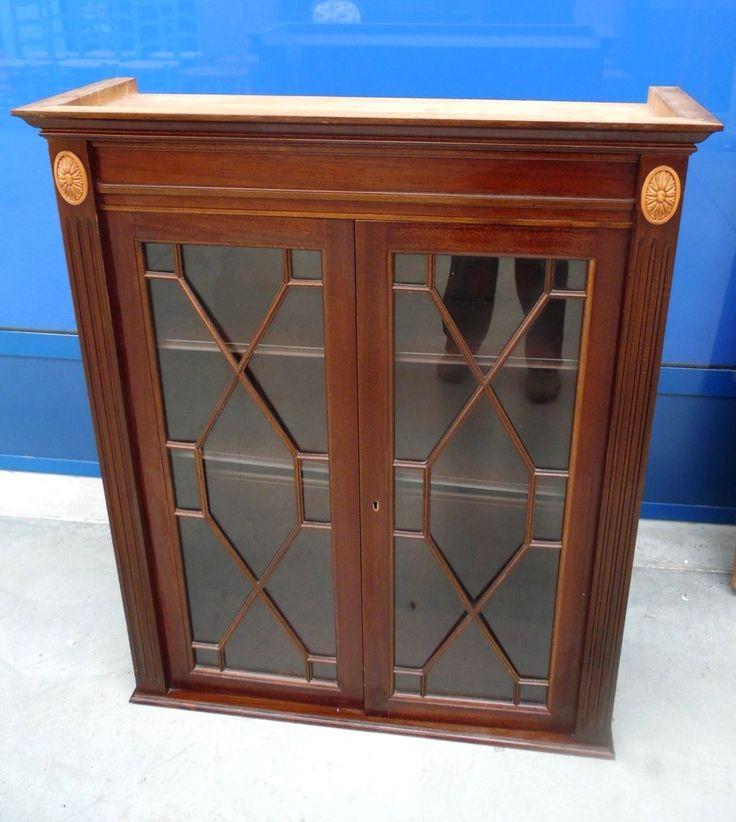 Piccola vetrina - vetrinetta in mogano inglese primo '900