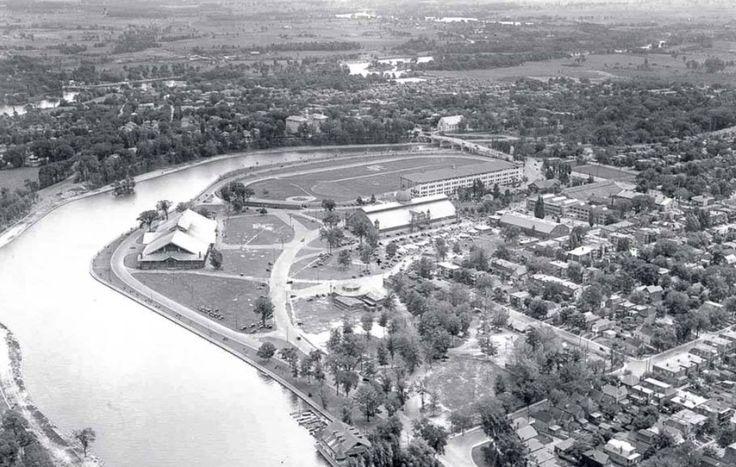 Aberdeen Pavilion (aka the Cattle Castle) circa 1920 (I'm guessing).  Lansdowne Park, Ottawa