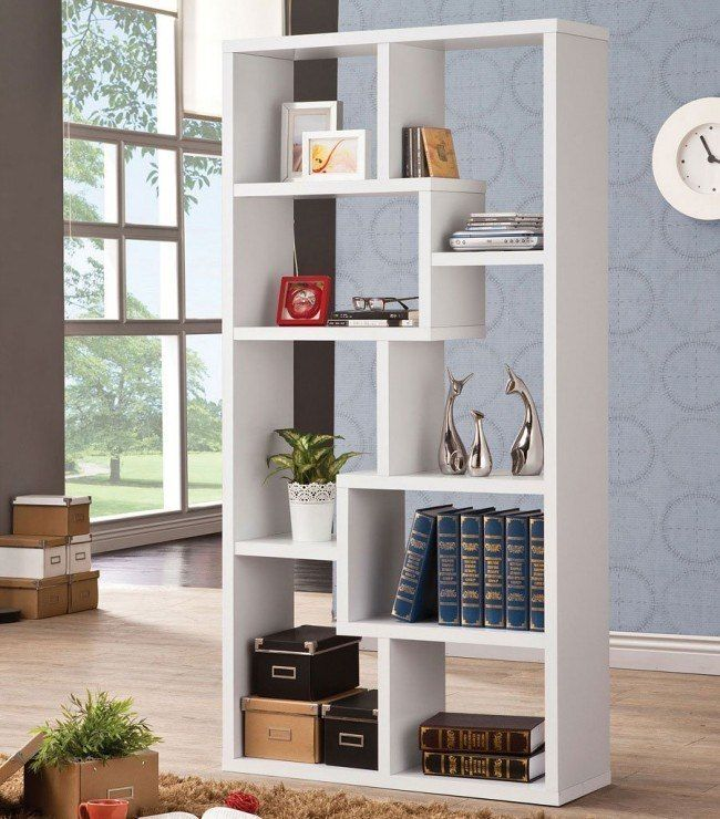 Geometric Bookcase (White)   – a1