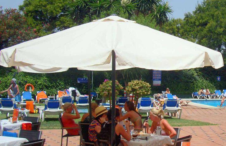 Bar Terrace, Hotel PYR Marbella, Puerto Banus, Marbella, Andalucia, Spain, Golf