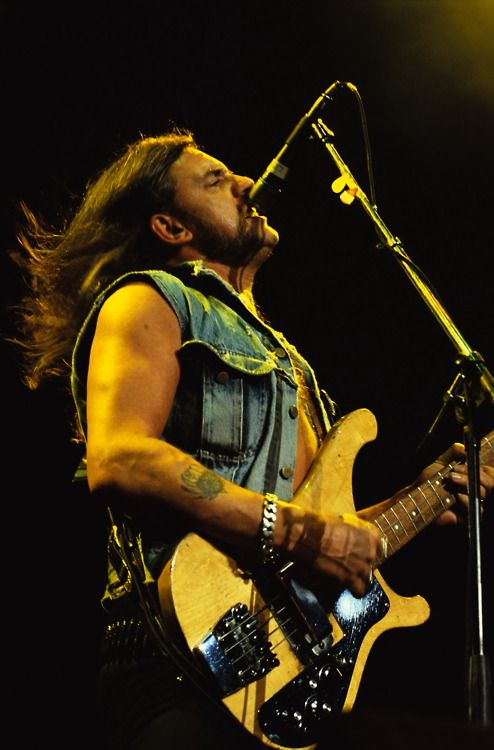 Lemmy Kilmister, lead singer and bassist for the legendary metal band Motorhead, Lemmy is credited for having one of the most recognisable faces in the world, and also for being a noteable pioneer of Hard Rock and metal................R.I.P 70 years old hell of a rocker.... 12-28-15 In heaven with the other rockers! Toast you next time I have a shot of JACK!!!!