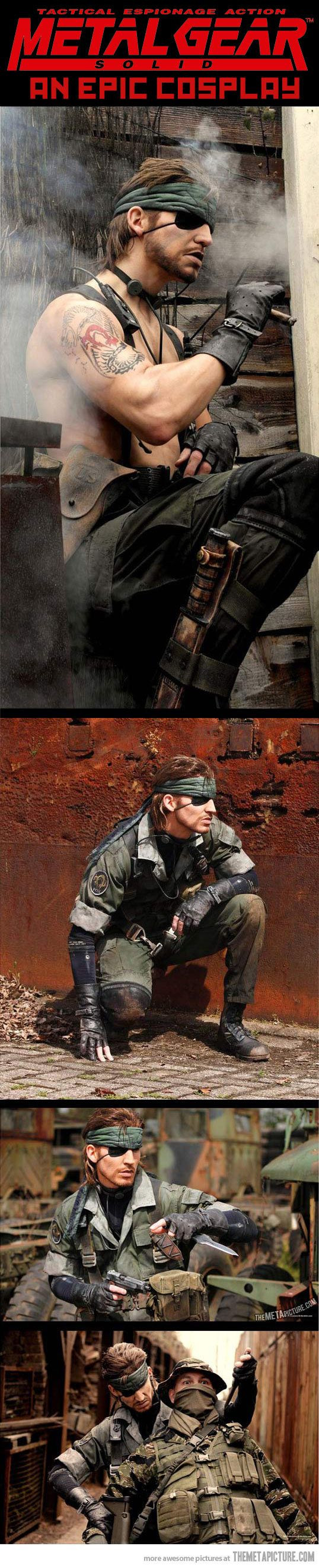 Metal Gear Solid Cosplay This guy should play Snake if they make a film, he looks just like him!