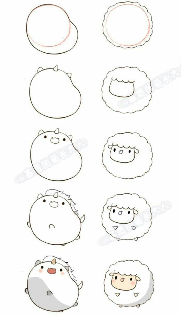 Drawing Decoration Pin Blogger Zeichnungsdekoration Women Fashion Blogger Deco In 2020 Easy Cartoon Drawings Cute Easy Drawings Drawing Cartoon Faces