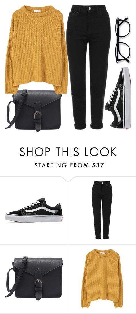 """""""School has started"""" by denulina ❤ liked on Polyvore featuring Vans, Topshop, MANGO, Fall and casual"""