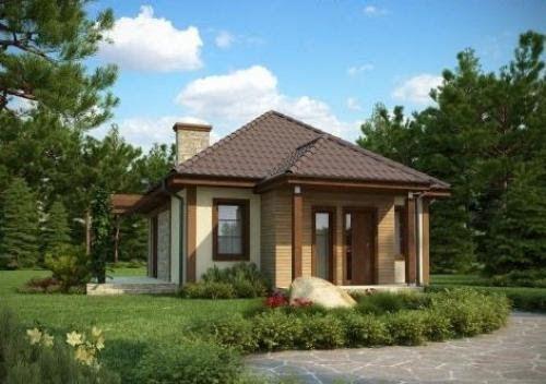Проект дома - общая площадь - 51 кв.