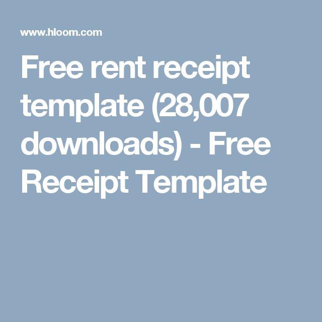 Free rent receipt template (28,007 downloads) - Free Receipt Template