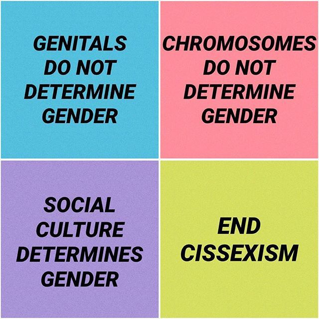 You can be whatever you want to be, that's your right. Everybody has the right to live their own lives & be happy. But you can't make stuff up to fit your narrative. There's an X chromosome and a Y chromosome. Boy/Girl. And then the gender that one chooses to be. The end.