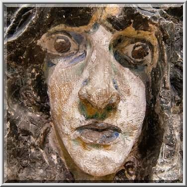 Demon's Head by M. Vrubel in Russian Museum.