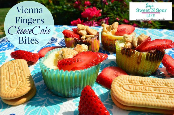 Vienna Fingers CheeseCake Bites -  sweetnsourdeals