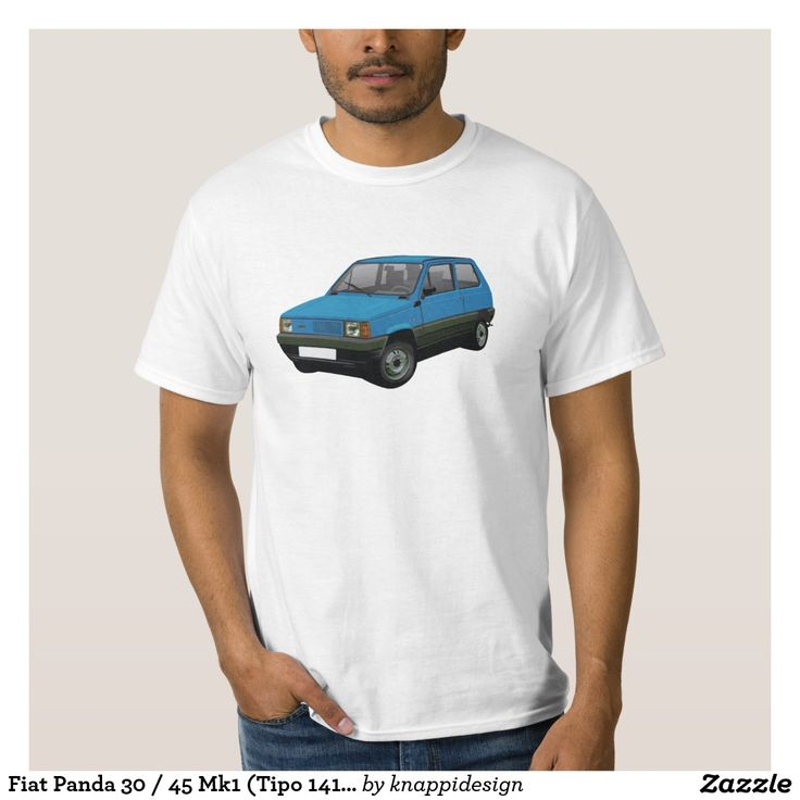Fiat Panda 30 / 45 Mk1 (Tipo 141) Blue Tee Shirt #fiat #fiatpanda #tshirt #italia #italy #panda #thirts #80s #blue