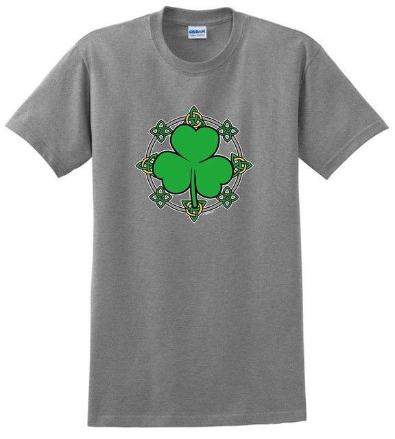 St. Patricks Day Gift Knots Shamrock Crew Men's Tee Shirt