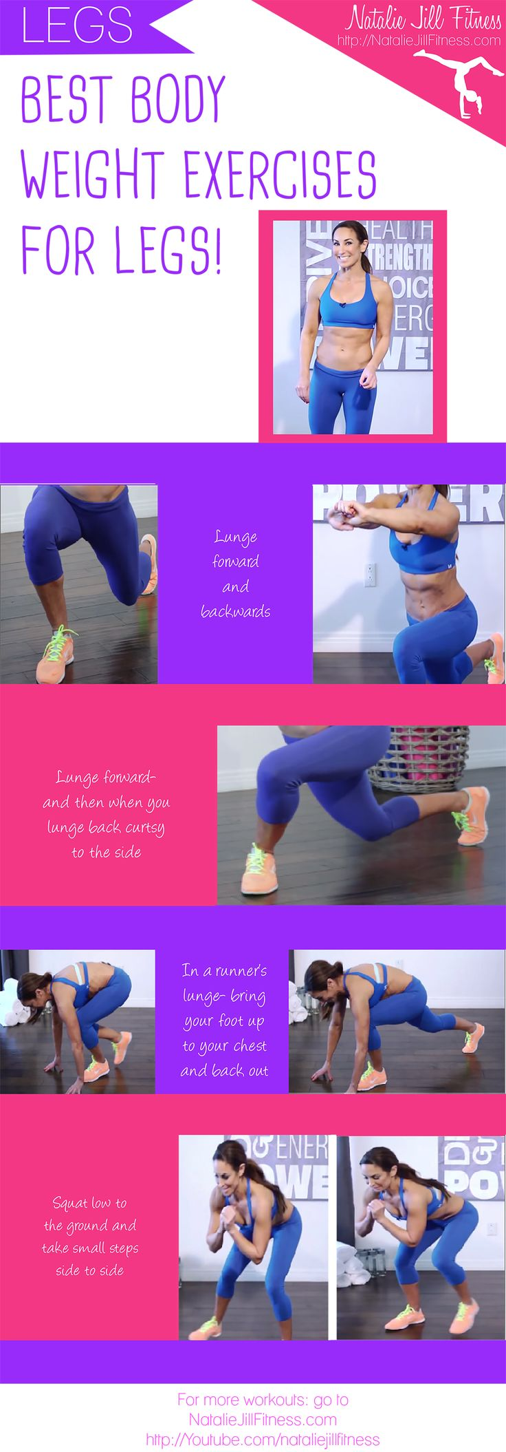 Best body weight exercises for legs! Let's go! Click the image to watch the full video